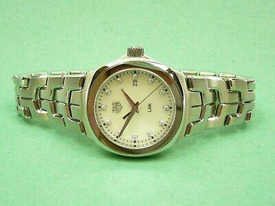 Ladies Tag Heuer Link diamond set, mother of pearl dial, WBC1312 wristwatch