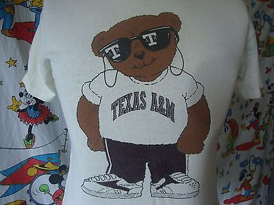 VintageTexas A&M Aggies Cool Bear with sunglasses rap hip hop football T shirt M