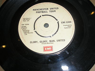 "7"" VINYL  MANCHESTER UNITED-GLORY, GLORY, MAN UNITED/THE WEMBLEY TRAIL 1983"