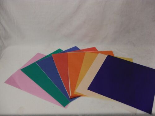 Eight Sheets ASSORTED COLORS GEL KIT 10 INCH X 10 INCH