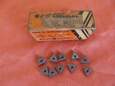 New Old Stock Carboloy Tnmg221e Carbide Inserts Grade 370 Lot Of 10