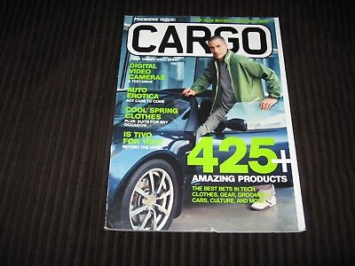 CARGO MAGAZINE PREMIERE ISSUE APRIL 2004 - A BUYERS GUIDE FOR MEN - POP CULTURE