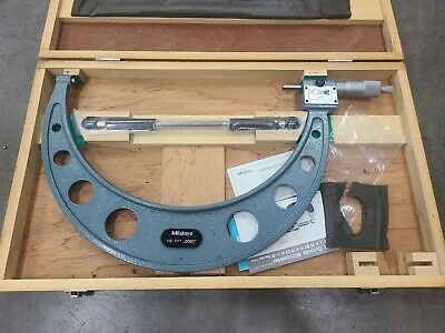 Mitutoyo 193-221 Digital Counter Micrometer 10-11 .0001 Carbide Face