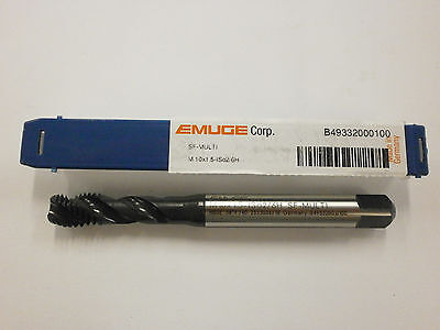 Emuge M10 X 1.5 Spiral Flute Multi-tap 6h High Performance Germany B49332000100
