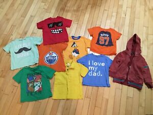 Boys size 3 t shirts and hoodie