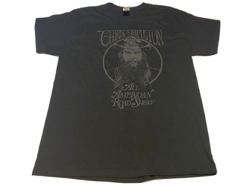Chris Stapleton All American Road Show Concert Tour T-Shirt Black L Local Crew