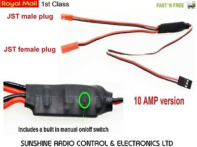 RC Transmitter Receiver Controlled ON / OFF RX Switch 10AMP Drone Plane Boat Car