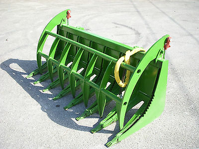 John Deere Compact Tractor Attachment - 72 Root Rake Clam Grapple - Ship 199
