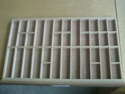 Original, vintage wooden, letterpress  printers tray15.5 x 9.75inches Tray 1966