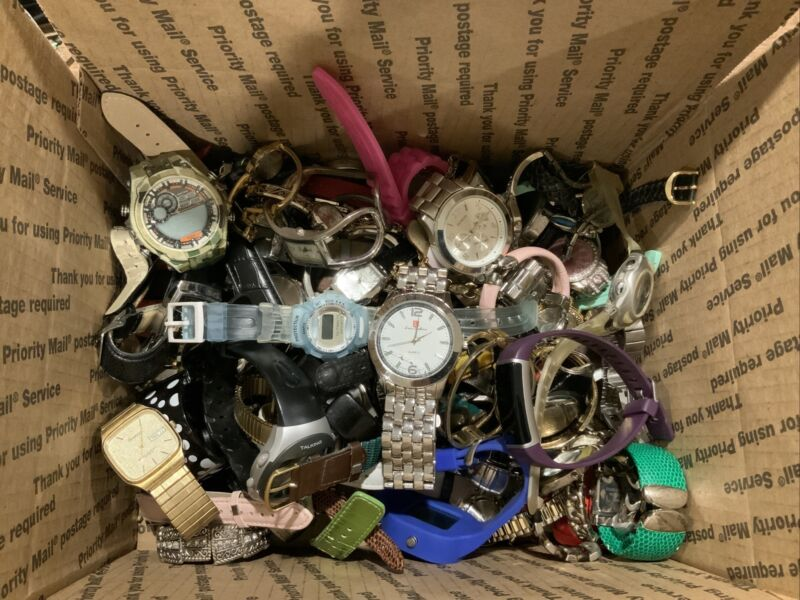 Large Watch Lot. 100+ watches. Untested. Lot #3