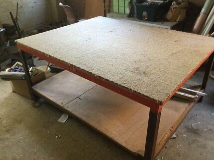 Steel framed table work bench1560mmx1240mmx720 high