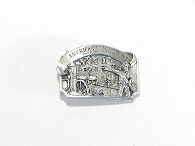 Arroyo Grande Belt Buckle American Fire Fighter 1987 Commemorative Ltd Ed #1095