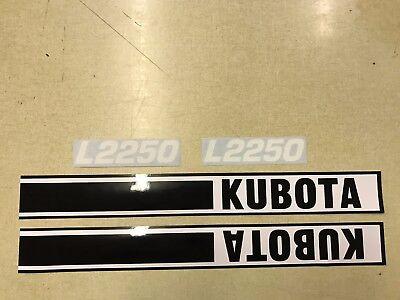 Kubota L2250 Hood Decals