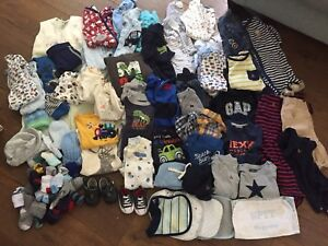 Boys Newborn to 6 Month  Clothing Lot