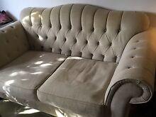 Upholstered linen French 2 seater sofa lounge Marrickville Marrickville Area Preview
