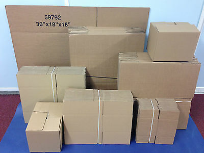 "SINGLE & DOUBLE WALL CARDBOARD BOXES ALL SIZES 5"" 6"" 7"" 8"" 9"" 12"" 18"" 14"" ETC"