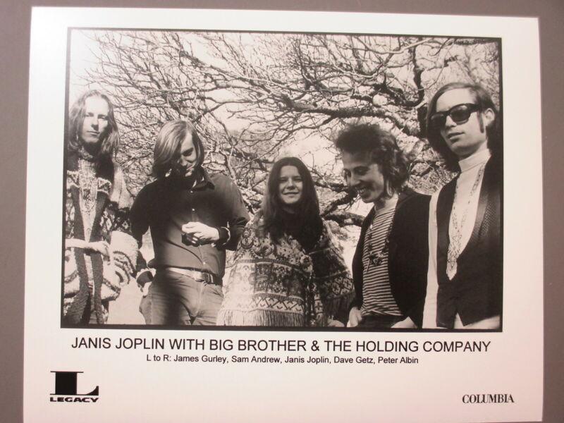 Janis Joplin promo photo 8 X 10 matte black & white Big Brother & the Holding !