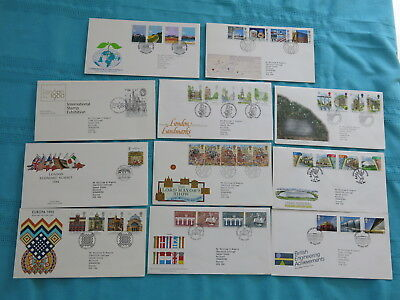 11 x Royal Mail First Day Covers: London, Commonwealth & Europe