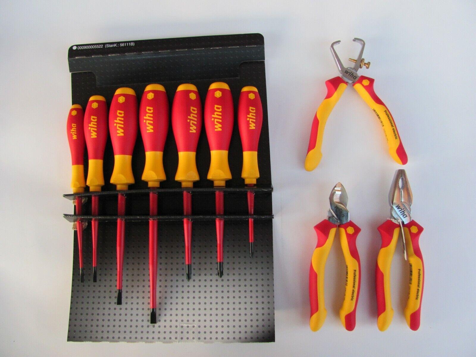 Flachrundzange Seitenschneider Wiha 38637 Zangen Set Industrial electric Kombi