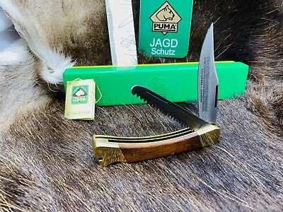 1971 Vintage Puma Game Warden Knife & Jacaranda Handles With Tag Mint In Box