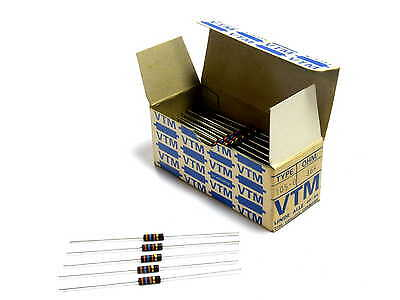 100x Widerstand 36kOhm 0,33W im Originalkarton Vitrohm VINTAGE ca. 1975-80 NOS