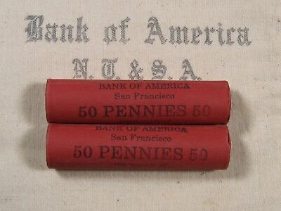 (ONE) BoA SF Lincoln Wheat Cent Penny Roll Lot Old US Coins 1909-1958 P D S