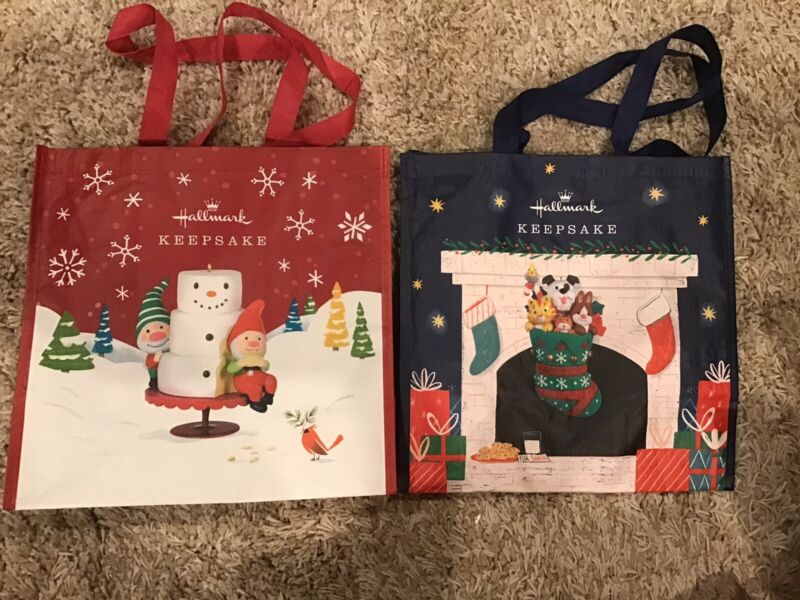 2 Hallmark New Totes STOCKING STUFFERS & GNOME FOR CHRISTMAS  MINT