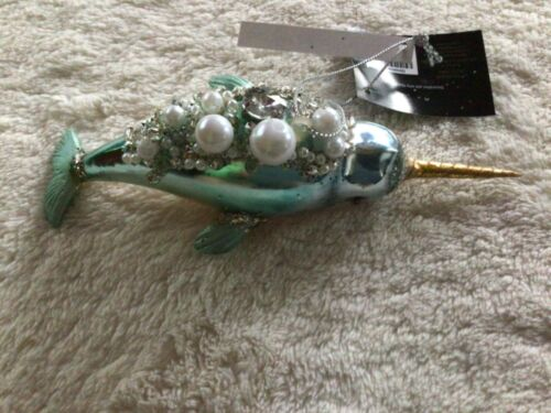 Robert Stanley 2021 Narwhal (whale) Christmas Ornament NWT