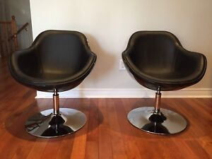 Pair of modern lounge chairs