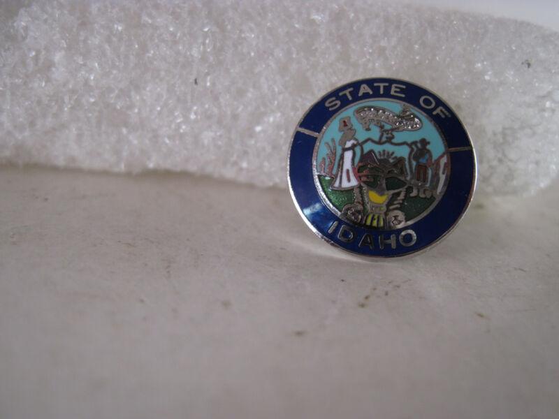 Idaho     State   Seal cloisonne   lapel pin