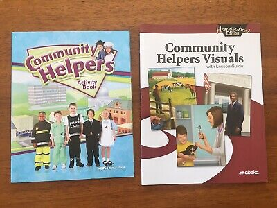 Abeka Community Helpers Activity Book & Helpers Visuals With Lesson Guide](Community Helper Books)