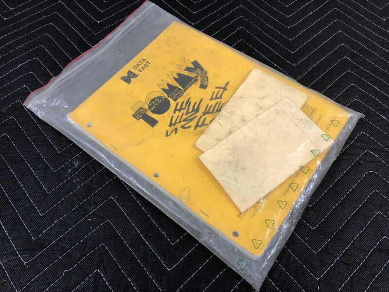 Data East Tommy Pinball Machine Manual Schematics Goodie Bag Slingshots & Parts