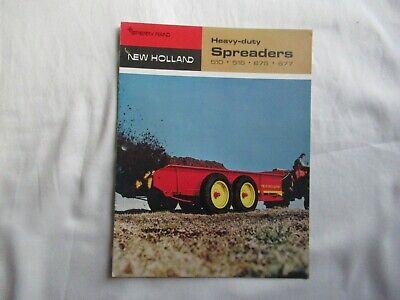 1968 Sperry New Holland 510 516 675 677 Manure Spreader Brochure