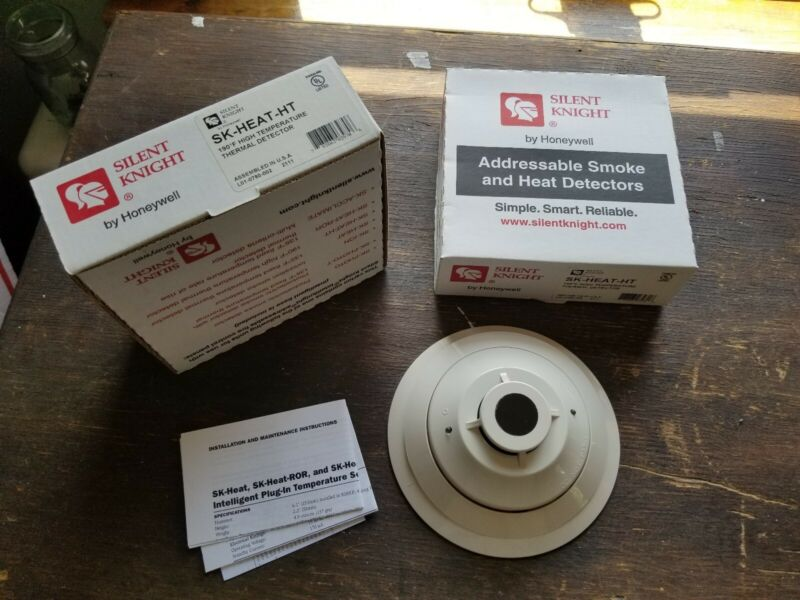 2 Honeywell Silent Knight Addressable Smoke And Heat Detectors