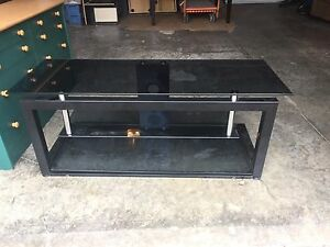 Black Tinted Glass Entertainment Stand