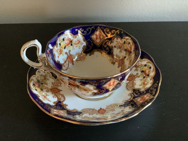 VTG ROYAL ALBERT Bone China England HEIRLOOM Pattern Cup & Saucer ~ 4534