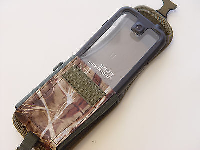Camo w/Latch Holster Pouch/Belt Clip Samsung Galaxy S5 For Lifeproof Case On (Lifeproof Case Samsung Galaxy S5)