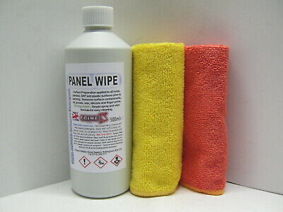 CAR BODY PAINT PANEL WIPE Cleaner Strong IPA Clean Wax Silicone Water Mark + 2 C