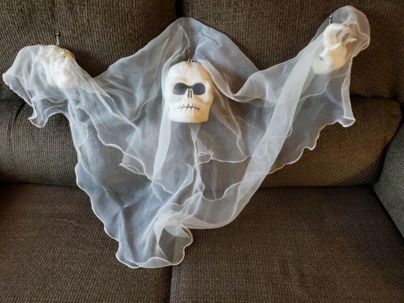 Vintage Gemmy Animated Floating Ghost Lighted, Sound & motion activated, WORKS