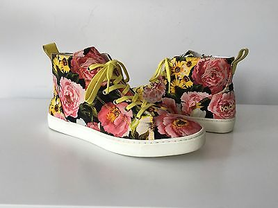 DOLCE & GABBANA MULTICOLOR FLORAL PRINT SNEAKERS, SIZE 36