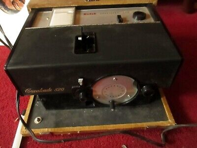Vintage Kodak Cavalcade 520 Projector in old tweed case w manual and cord, used for sale  Shipping to South Africa