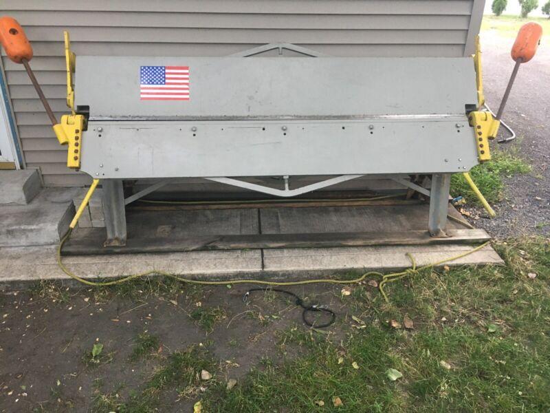 "Chicago Steel Bending Apron Brake Dreis Krump Mfg Model 814 96"" 8"