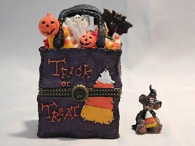 Boyds Bears Treasure Box JACKIE'S BAG O'TREATS w/WITCHY MCNIBBLE - 1E - NIB