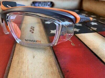Prescription Safety Glasses ArmouRx 6008 Grey/Orange ANSI/CSA. Option to Add (Rx Prescription Safety Glasses)