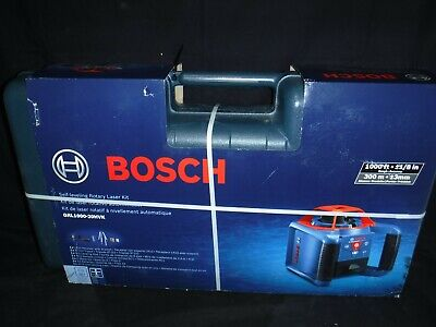Bosch 1000-ft Red Beam Self-leveling Rotary 360 Laser Level Kit Grl1000-20hvk