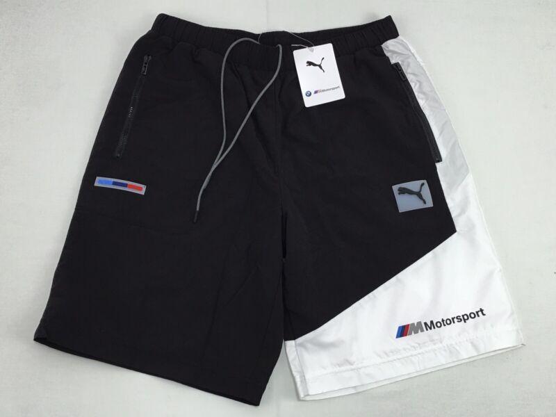 Puma BMW Motorsport MMS Street Woven Nylon Shorts Men's Size Medium 597251-01
