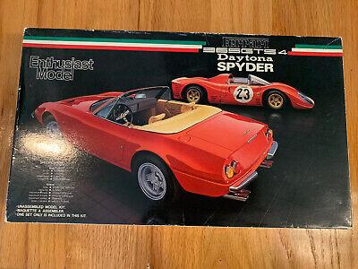 Fujimi 1/24 Ferrari 365GTS /4 Daytona Spyder Enthusiast Model Kit Wheels Started