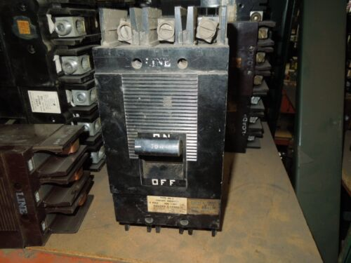 Square D Type Ml-2 994370 70a 3p 600vac Circuit Breaker Used