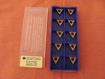 Nos Sumitomo Tpmt110304n-mu Tpmm221emu Ac300g Carbide Inserts Lot Of 10