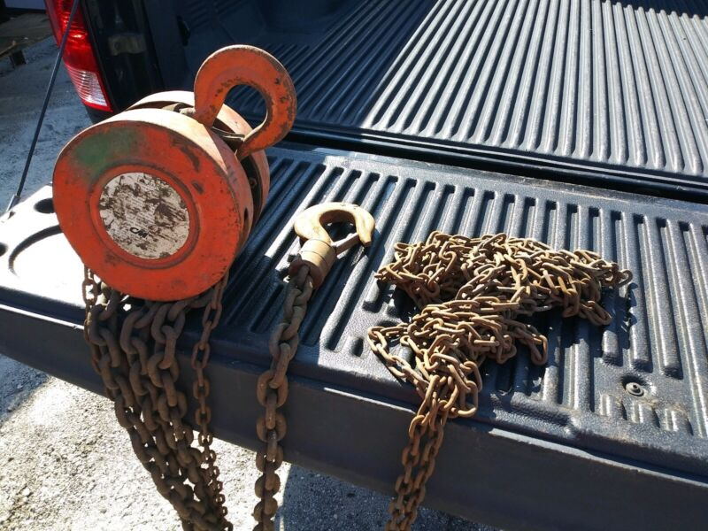 Columbus McKinnon Series 622  2 Ton Manual Chain Hoist Lift   --10